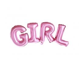 "Fooliumist õhupall ""Girl"", roosa  (74x33cm)"
