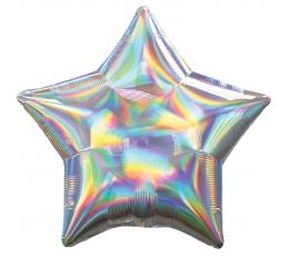 """Fooliumist õhupall  """"Hõbedane täht"""" (45 cm), holograafiline"""