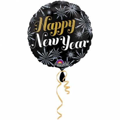 "Fooliumistõhupall  ""Happy New Year"" (45 cm)"