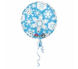"""Fooliumist õhupall  """"Helesinised lumehelbed"""" (43 cm)"""