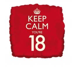 """Fooliumist õhupall """"Keep calm 18"""""""