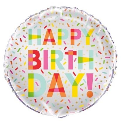 """Fooliumist õhupall kirjaga""""Palju õnne sünnipöevaks""""(45 cm)"""