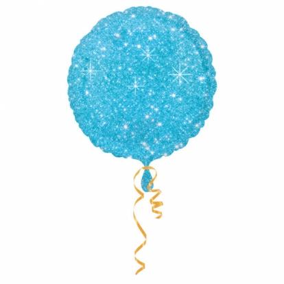 """Fooliumist õhupall  """"Läikiv helesinine"""" (43 cm)"""
