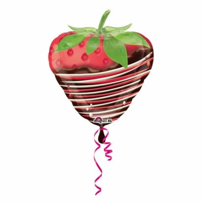 """Fooliumist õhupall  """"Maasikas šokolaadis"""" (45x48cm)"""