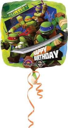 """Fooliumistõhupall """"Ninja kilpkonnad (43 cm)"""
