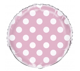 Fooliumist õhupall, roosa täppidega(45 cm)