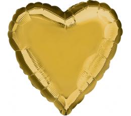 """Fooliumist õhupall  """"Süda"""", kuldne (43cm)"""