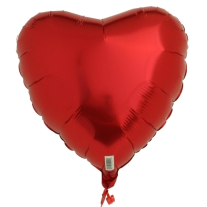 "Fooliumist õhupall  ""Süda"", punane (45cm)"