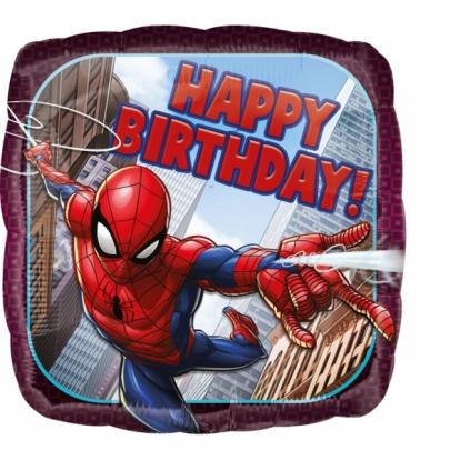 "Fooliumist õhupall ""Spider Man-Happy birthday"""