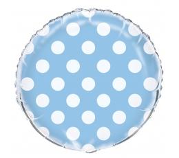 Fooliumist õhupall , täppidega helesinine (45 cm)