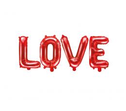 """Fooliumist õhupallide komplekt """"Love"""", punane (140x35 cm)"""