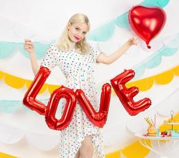 """Fooliumist õhupallide komplekt """"Love"""", punane (140x35 cm) 1"""