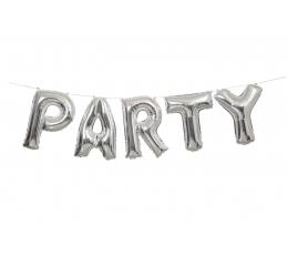 """Fooliumist õhupallide komplekt  """"Party"""", hõbedane (35 cm)"""