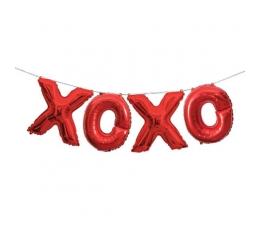 "Fooliumist õhupallide komplekt ""XOXO"", punane (35 cm)"