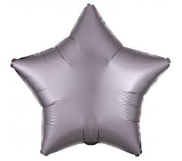 """Fooliumist õhupall """"Hallikas-roosa täht"""" (48 cm)"""