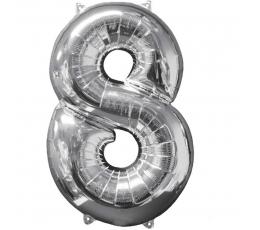 """Fooliumist õhupall """"8"""", hõbedane (66 cm)"""