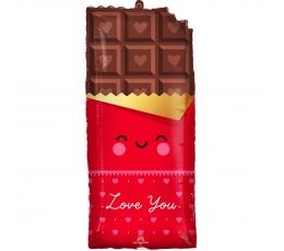 """Fooliumist õhupall """"Armastuse šokolaad"""" (33x71cm)"""