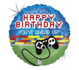 """Fooliumist õhupall """"Arvutimängud. Happy birthday"""" (46 cm)"""