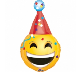 "Fooliumist õhupall ""Emoticon Party Hat"" (55x99 cm)"