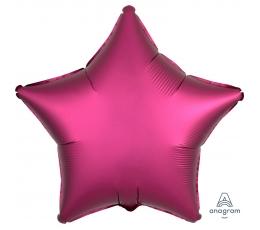 "Fooliumist õhupall ""Erkroosa täht"", matt (43 cm)"
