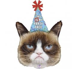 "Fooliumist õhupall ""Grumpy Cat party"" (91 cm)"