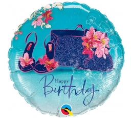"Fooliumist õhupall ""Happy Birthday"" (46 cm)"