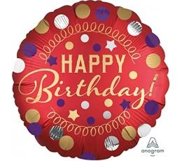 "Fooliumist õhupall ""Happy Birthday Dots"" (45 cm)"