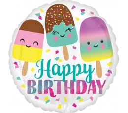 "Fooliumist õhupall ""Happy Birthday Ice Cream"" (43 cm)"