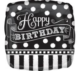 """Fooliumist õhupall """"Happy Birthday"""", kriiditahvel (43cm)"""