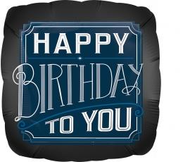 """Fooliumist õhupall """"Happy Birthday Man"""" (43 cm)"""