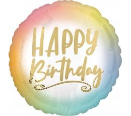 "Fooliumist õhupall ""Happy birthday"", ombre-kuldne (43 cm)"