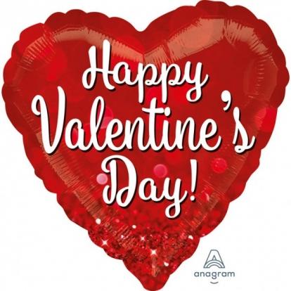 "Fooliumist õhupall ""Happy Valentines day"" (28"" 71cm.)"