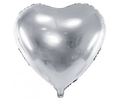 """Fooliumist õhupall """"Hõbedane süda"""" (45 cm)"""