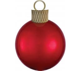 """Fooliumist õhupall """"Jõulupuu mänguasi"""", punane"""