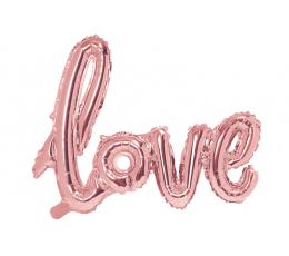 """Fooliumist õhupall-kiri """"Love"""", roosakas-kuldne (73x59 cm)"""