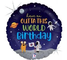 """Fooliumist õhupall """"Kosmose sünnipäev"""" (46 cm)"""