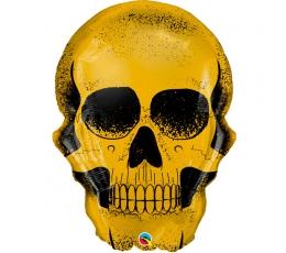 """Fooliumist õhupall """"Kuldne kolju"""" (91 cm)"""