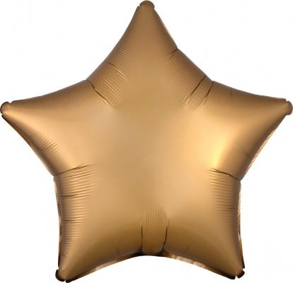 "Fooliumist õhupall ""Kuldne täht"", matt (48 cm)"