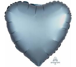 "Fooliumist õhupall ""Metalne süda"", matt (43 cm)"