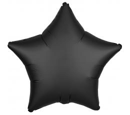 """Fooliumist õhupall """"Must täheke"""", matt (48 cm)"""