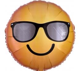 """Fooliumist õhupall """"Naeratav päikeseprilliga emotikon"""" (43 cm)"""