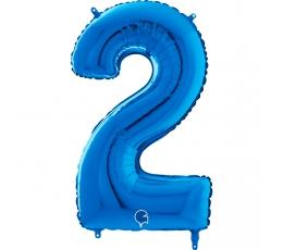 """Fooliumist õhupall number """"2"""", sinine (66 cm)"""