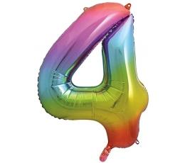 """Fooliumist õhupall number """"4"""", mitmevärviline pastelne (86 cm)"""