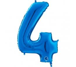 """Fooliumist õhupall number """"4"""", sinine (66 cm)"""