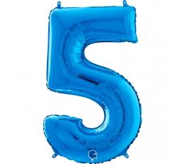 """Fooliumist õhupall number """"5"""", sinine (66 cm)"""