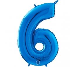 """Fooliumist õhupall number """"6"""", sinine (66 cm)"""