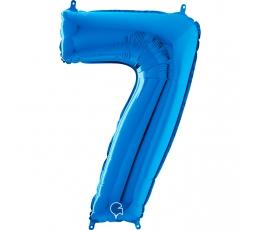 """Fooliumist õhupall number """"7"""", sinine (66 cm)"""