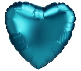 """Fooliumist õhupall """"Ookeanisinine süda"""", matt (43 cm)"""