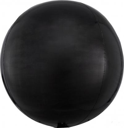 Fooliumist õhupall-orbz, must (38 cm)