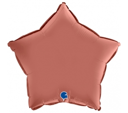 """Fooliumist õhupall  """"Roosakas-kuldne täheke"""", matt (46 cm)"""